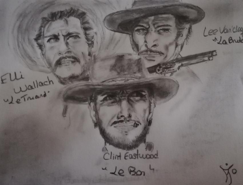 Clint Eastwood, Lee Van Cleef, Eli Wallach by Ma-Jo58